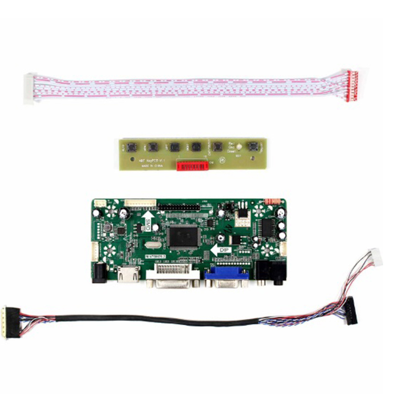 Latumab Kit For B156XW02 V2 HW4A HDMI + DVI + VGA LCD LED LVDS Controller Board Driver LED Panel 15.6inch 1366x768 40pins