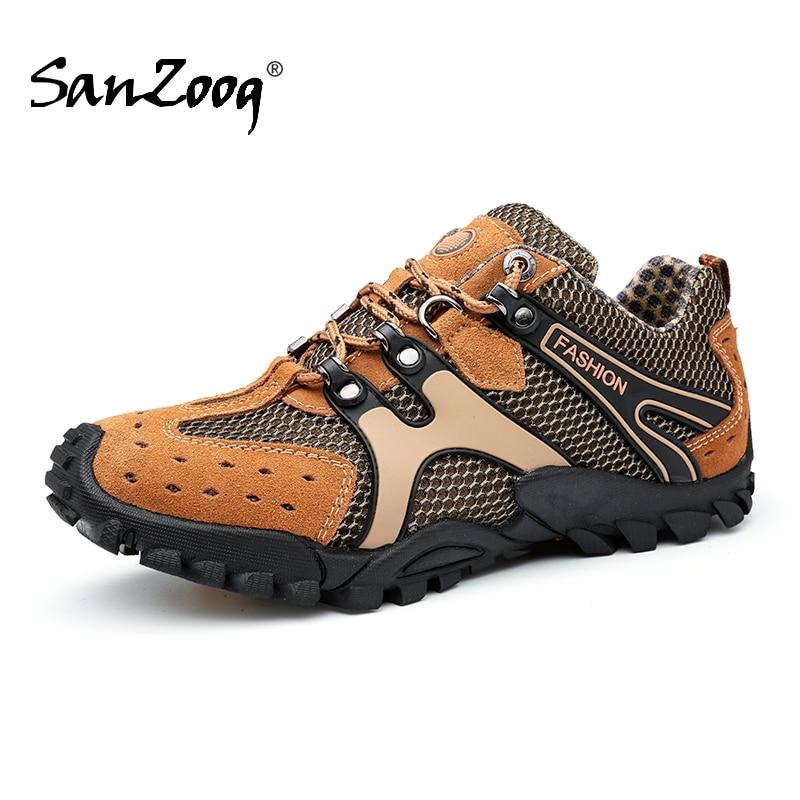 Men Outdoor Shoes Trekking Walking Tourism Hiking Men's Sneakers Treking Tracking Camping Footwear Mountain Rock Climbing Shoes