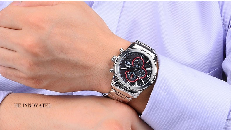 quartzo relógios de pulso moda à prova