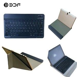 BDF czarna skórzana obudowa i czarna klawiatura Bluetooth na 10 Cal Tablet Pc użyj odporności na wstrząsy odporność na upadek przeciwpyłowy M107/S10
