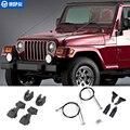 MOPAI защитные оправы для Jeep Wrangler TJ 1997-2006 капот защелка препятствия устранение веревки конечностей стояк комплект для Jeep аксессуары