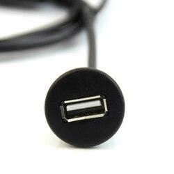 1M deska do deski rozdzielczej samochodu zamontuj męski na żeński Panel kablowy USB 2.0 złodziejka Klemy Samochody i motocykle -
