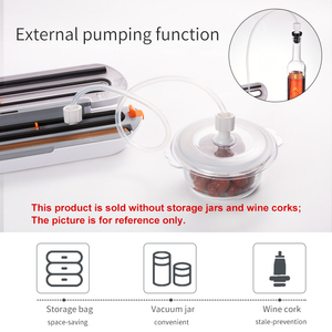 Image 5 - Tinton vida aferidor do vácuo de alimentos máquina de embalagem com 10 pçs sacos de vácuo livre máquina seladora a vácuo aferidor do vácuo empacotador