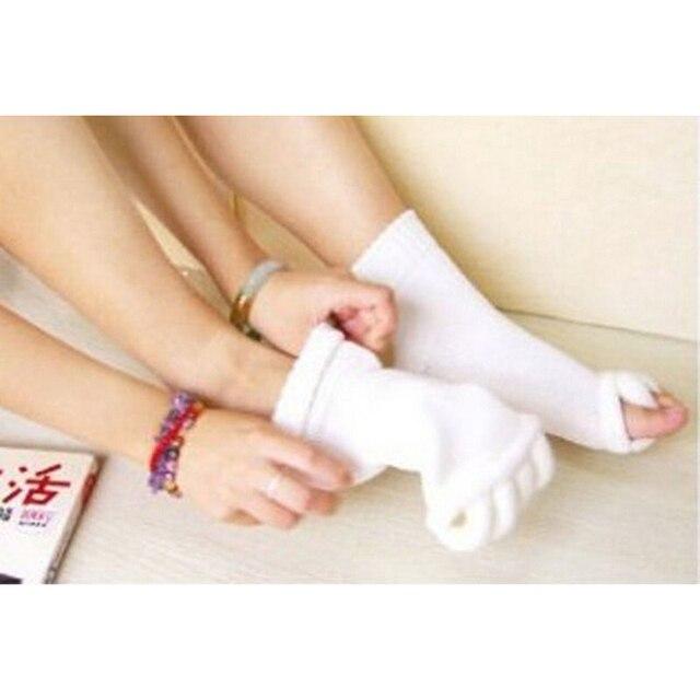 OPHAX 1pair Men Women Unisex Yoga Socks Sleeping Health Foot Care Massage Toe Socks Five Fingers Toes Compression Treatment 2
