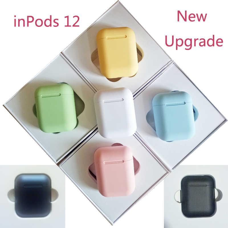 Original I12 TWS Inpods 12 หูฟังไร้สายบลูทูธ 5.0 หูฟังชุดหูฟังสเตอริโอเบสกีฬาหูฟัง PK i9s i11 TWS I30 i10