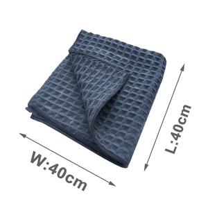Image 5 - Auto Wassen Handdoek Glas Reiniging kropla wody z mikrofibry okno Schoon Vegen Auto Detailing Wafel Weave voor Keuken Bad
