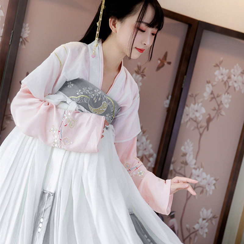Traditional Dance Costumes Hanfu Women Chinese Fairy Dress Folk Festival Outfit Oriental Stage Wear Performance Clothing DC2699