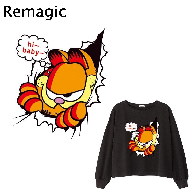 Original Vintage Garfield The Cat Mini Iron On Transfer Cartoon