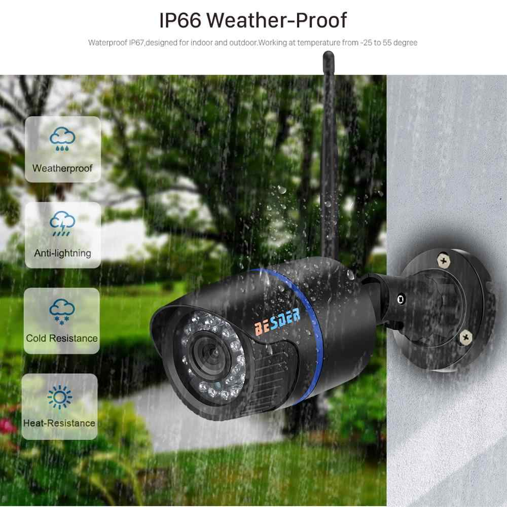 Besder Yoosee Ip Kamera Wifi 1080P 960P 720P ONVIF Nirkabel Kabel P2P CCTV Bullet Outdoor Kamera dengan miscrosd Slot Kartu Max 64G