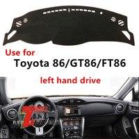 Taijs linksgestuurde dashboard cover voor Toyota 86/GT86/FT86 beschermende dacron auto dashboard mat voor toyota 86/GT86/FT8