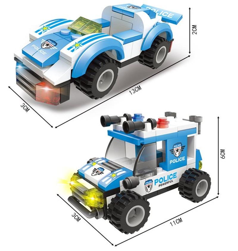 858Pcs City Police SWAT Command Vehicle Truck Car Building Blocks Sets LegoINGLs Technic DIY Bricks Playmobil Toys for Children in Blocks from Toys Hobbies