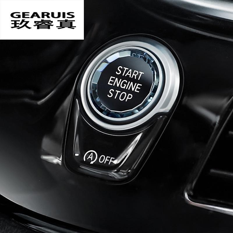 Styling Car ENGINE START botão interruptor de PARAGEM da Etiqueta Para A BMW 1 2 3 4 5 6 7 Série F20 F21 f22 F23 F30 F34 F10 F18 F12 F07 F01 F02