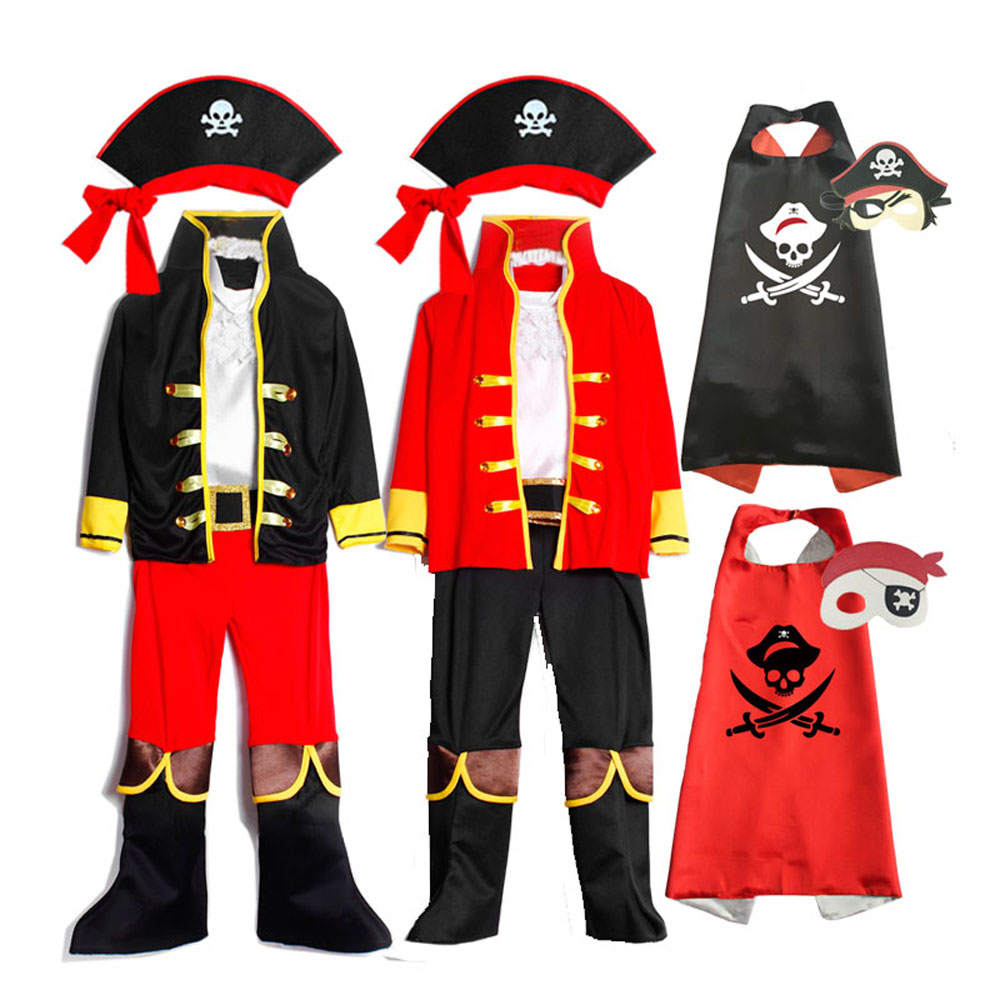 Kids Pirate Costume Toddler Captain Fancy Dress Boys Girls Outfit