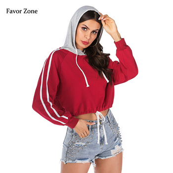 Short Style Women Sweatshirt Hoodies Casual Loose Solid Color Hooded Tracksuit For Women Spring Autumn Long Sleeve Pullover Tops women solid color plush hooded sweatshirt autumn winter long sleeve loose warm hoodies coat pockets casual fashion outwear tops