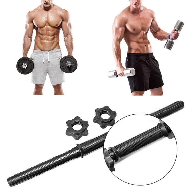 """17.7/"""" 1PCS Dumbbell Bar Gym Lifting Weight Barbell Spinlock Collars Clips Set US"""