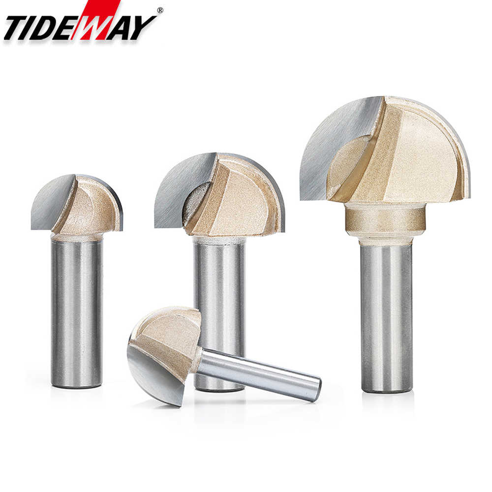 """1//2/"""" 1//4/"""" Shank Round Ball Shaped CNC Router Bits Milling Cutter For Woodwork"""