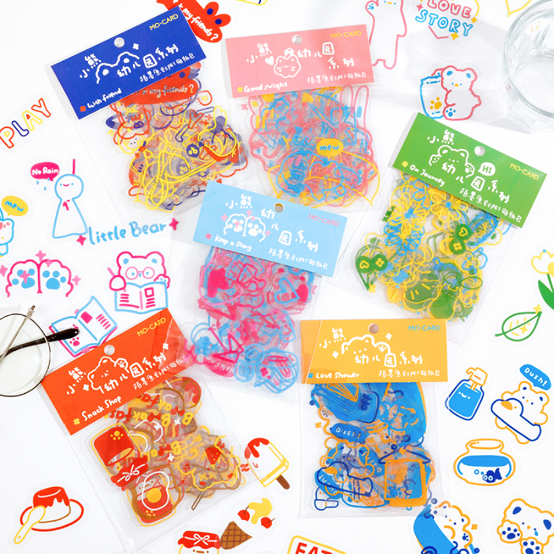 45 PCs/Pack Lovely Bears Journaling Life Planner Stickers Life Style Kawaii Animals Decorative Stick