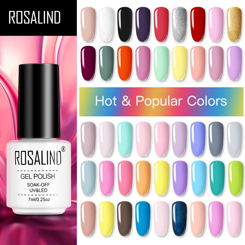 ROSALIND Gel Polish Hybrid Varnishes All For Nail Manicure Semi Permanent For Nails UV Gel Nail Polish Vernis Gellak Top Base