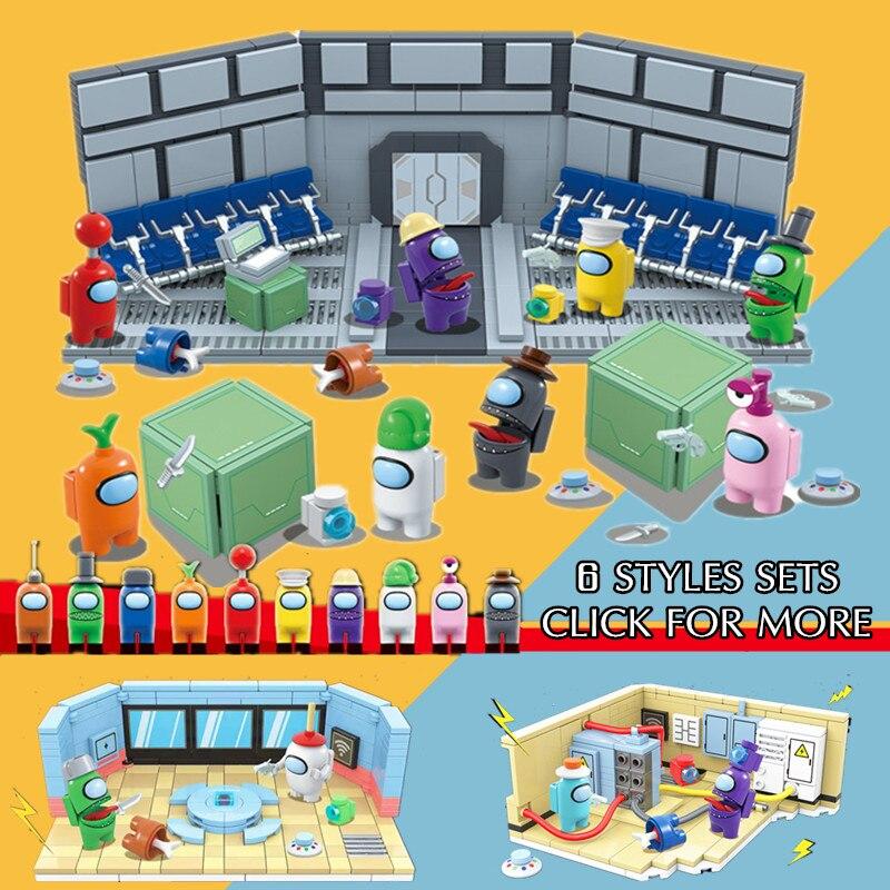 Yeni 661 adet 10 rakamlar oyunu Amongs uzay Alien rakamlar modeli yapı blok tuğla aksiyon figürü çocuk oyuncak çocuk hediye noel