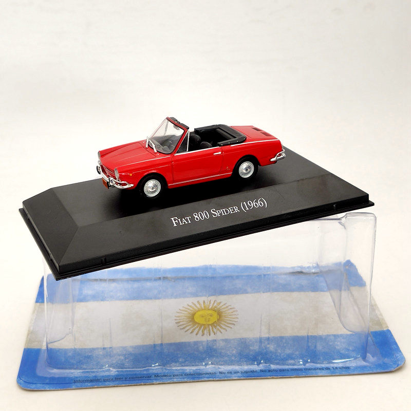 IXO 1:43 For Fiat 800 Spider 1966 Red Diecast Car Models Limited Edition Collection Toys