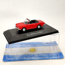 IXO 1:43 For Fiat 800 Spider 1966 Red Diecast Car Models Limited Edition Collection Toys 1 43 ixo diecast model car brazilian classic fiat uno 1983 miniature vehicle