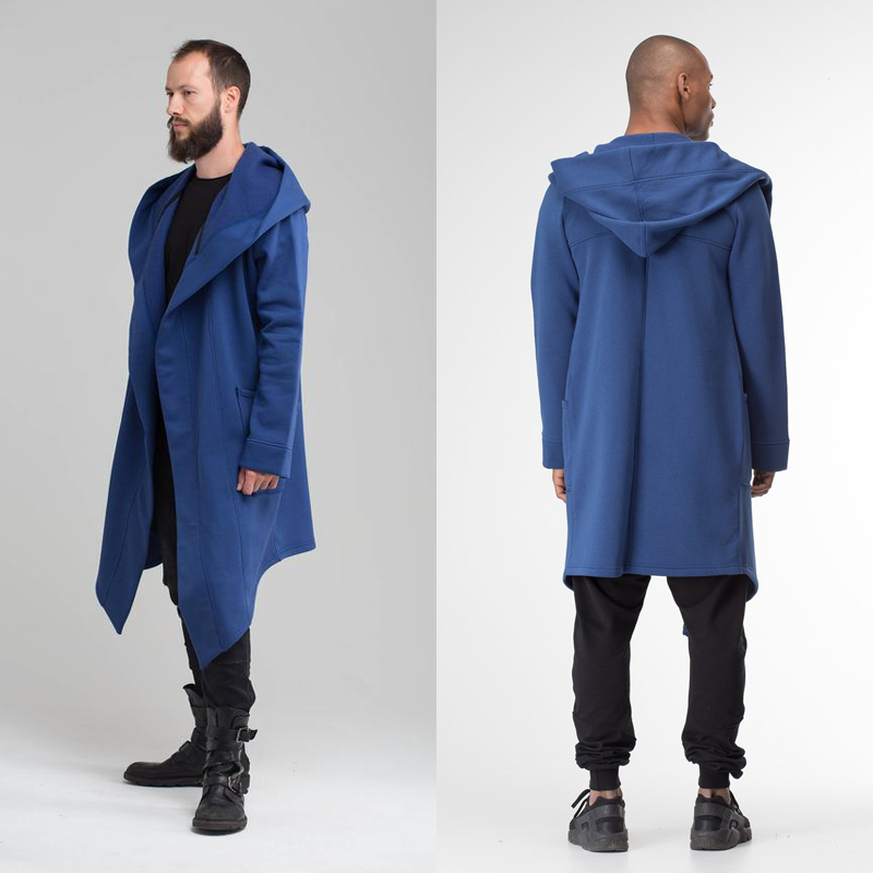 H48bd0179a7604f6f916a47f671795e27y Women Men Long Coats Burning Man Warm Casual Fashion Solid Thick Cosplay Hooded Jacket Coat Outwear Plus Size