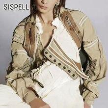 Женский костюм двойка sispell в стиле пэчворк с квадратным вырезом