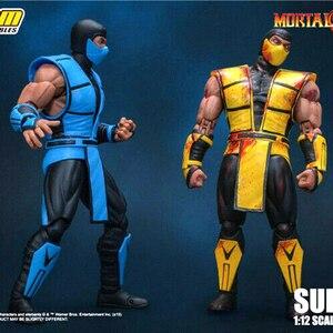 Предварительная продажа для коллекции 15 см игрушки от Storm 1/12 Mortal Kombat Sub-Zero Коллекционная фигура, модель игрушки