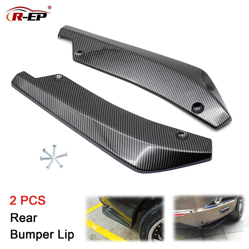 R-EP Car Universal Rear Bumper Lip Bumper Diffuser Protector Carbon Fiber Side Skirts for Cars Fits for E60 E90 XH-6134