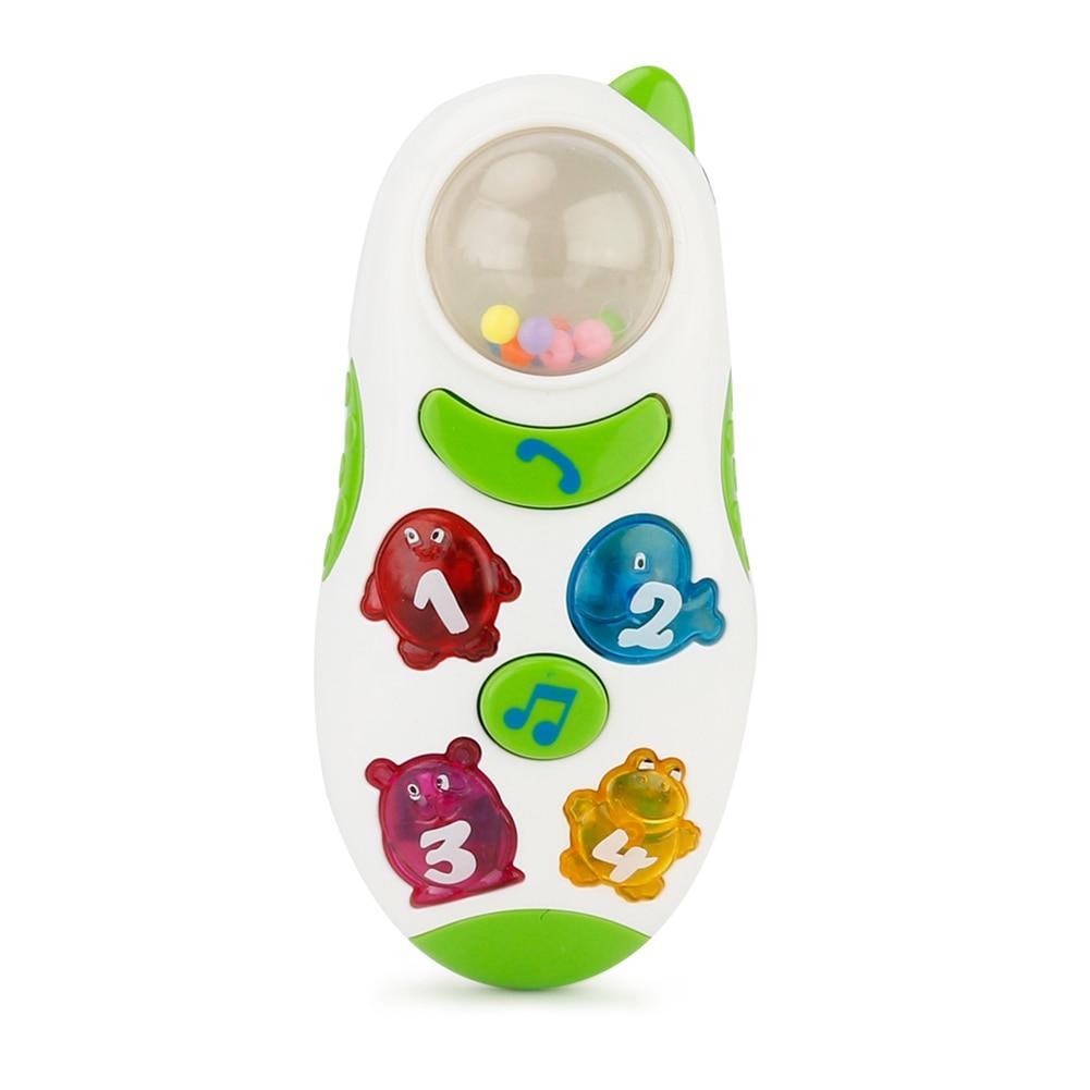 333-14 Cartoon Music Lights Phone For Brettbble Children Intellectual Educational Phone