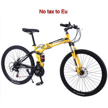 Opvouwbare mountainbike 24/26 inch mountainbike Nieuwe high carbon Staal student fiets 21/24/27/30 speed volwassen fiets(China)
