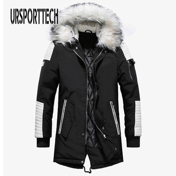 xxxxl casual jackets and coats for men 2016 winter windbreaker thicken fleece man parka pluse size hooded hombre overcoats New Winter Jacket Men Big White Fur Hooded Collar Long Parka Coat Large Size Thicken Warm Long Outwear Mens Jackets and Coats