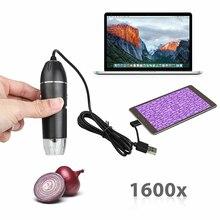 OTG Digital Microscope AVI Camera 8-LED lights USB Magnification Micro-Scope Lens Electron