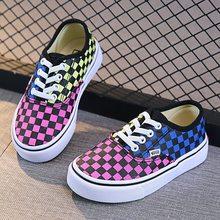 Krata dzieci buty dziewczyny chłopcy trampki gumką płótno dorywczo gumowy spód anty Silppery wiosna jesień duże dzieci buty