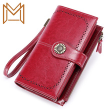 Wallet Woman Long Genuine Leather Wallet Zipper More Function Capacity Hand Package Wallet