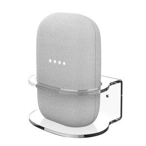 Image 3 - For Google Nest Audio Wall Mount Holder Acrylic Stand Bracket Space Saving Desktop Holder For Google Nest Audio Smart Speaker
