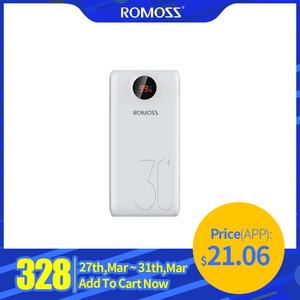 ROMOSS SW30 Pro Power Bank 26800mAh Portable Powerbank 26800mAh USB PoverBank External Battery Charger For Xiaomi Mi 9 8 iPhone