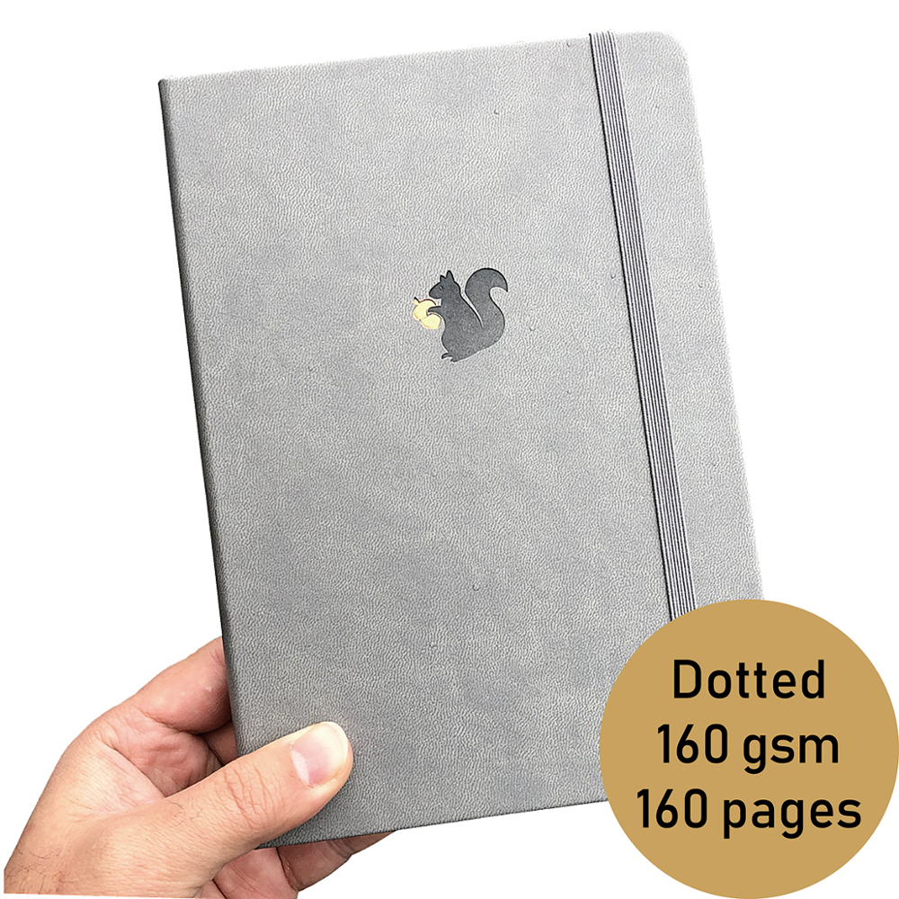 Squirrel LOGO Notebooks Journals Dotted Bullet  160GSM Paper 5*5 Mm DOTS