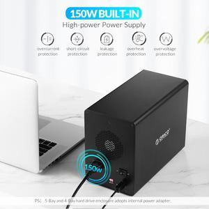 Image 3 - ORICO 35 سلسلة المؤسسة 5 خليج 3.5 قاعدة تركيب الأقراص الصلبة USB3.0 إلى SATA مع غارة قالب أقراص صلبة 150 واط الطاقة الداخلية HDD