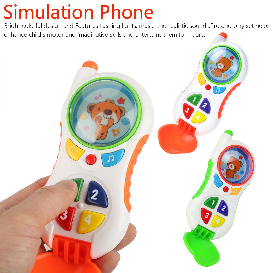 Baby Electronic Toys Baby Cell Phone Toys Baby Educational Mobile Toys Phone With Sound And Light Child Phone Call For Kids