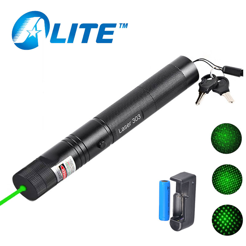 Powerful <font><b>532nm</b></font> 5000m Military Green <font><b>Laser</b></font> Pen-Light High Power Aluminum Burning beam <font><b>Laser</b></font> Pointer with charger+ 18650 Battery image