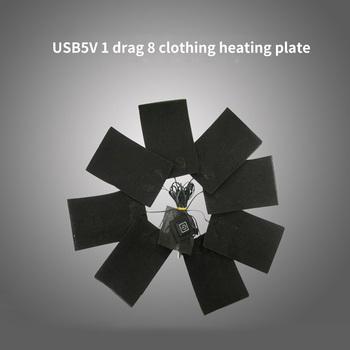 8 sztuk z włókna węglowego ogrzewanie Pad USB-opłata w wysokości ubrania ogrzewanie Pad ogrzewanie elektryczne czy doliczone zostaną dodatkowe opłaty regulacja temperatury ogrzewanie cieplej tanie i dobre opinie 50 W i Pod Włókien syntetycznych