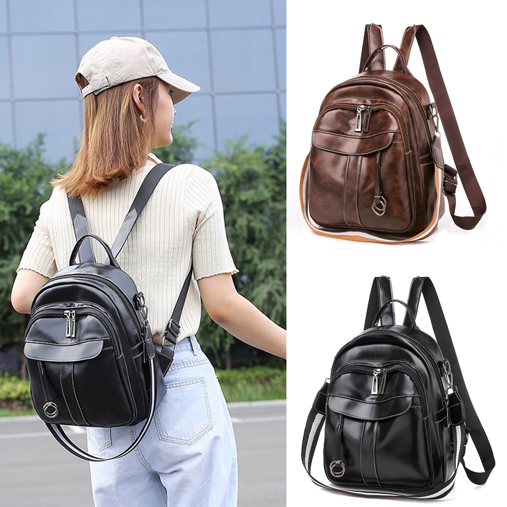 Women Real Soft Leather Shoulder Bags Ladies Backpack Handbag Messenge