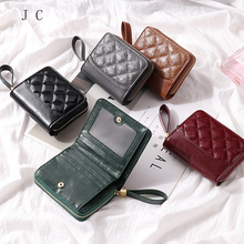 Mini Genuine Leather Women Wallet Small Luxury Female Cow Leather Coin Purses Slim ID Card Holder Wallets Ladie Money Bag