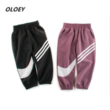 OLOEY Childrens Clothing New 2019 Mosquito Pants Thin Section Air Conditioning Trousers Male Baby Sports
