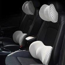 Cojín apto para reposacabezas de coche, cojín suave Universal para cuello, espuma de memoria, soporte Lumbar para Interior, productos Automotrices