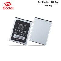 Ocolor para oukitel c16 pro bateria 2600 mah longo tempo de espera substituição para oukitel c16 pro batteria acessórios acumuladores