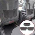 Автомобильный Стайлинг, углеродное волокно для Hyundai Tucson ix35 Elantra, заднее сиденье автомобиля, защита от удара, накладка, Внутренние Декоративн...
