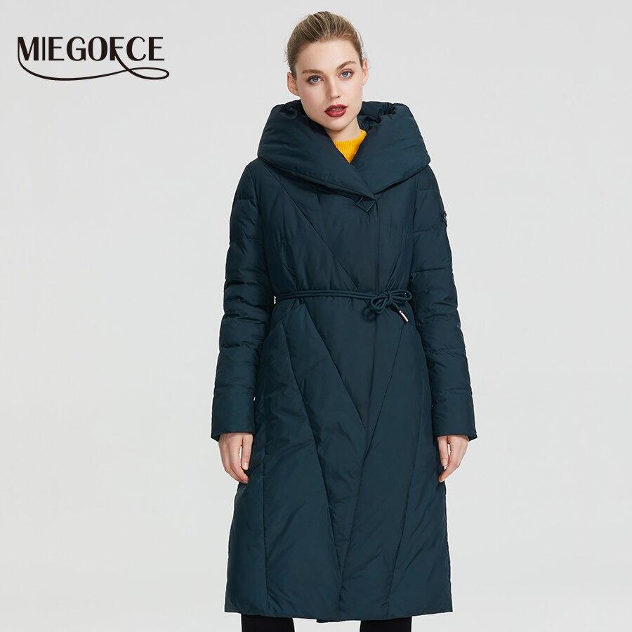 MIEGOFCE 2019 hiver Long modèle veste femme manteau chaud mode femmes Parkas haute qualité Bio-Down femmes manteau tout nouveau Design