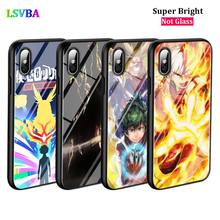 Black Cover Anime My Hero Academia for iPhone 11 11Pro X XR XS Max for iPhone 8 7 6 6S Plus 5S 5 SE Glossy Phone Case for iphone 11 my hero academia soft silicone transparent phone case for apple iphone 8 7 6 6s plus x xs max 5 5s se xr cover